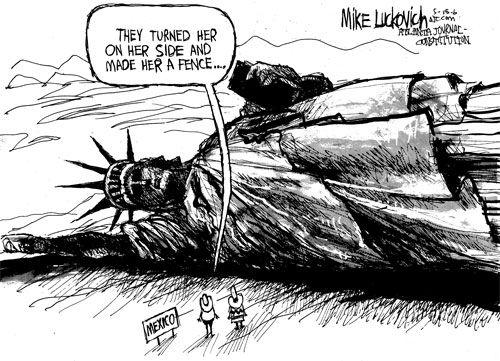 Statue Of Liberty Immigration Cartoon