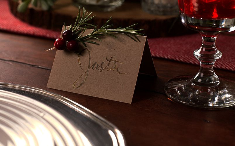 Publix DIY Rosemary Seating Cards | Cute christmas ideas ...