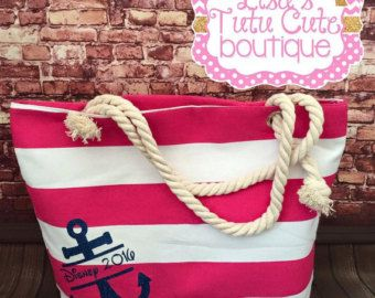 Nautical Canvas Bag with Anchor. Bridesmaid Gifts. by LisasTutus