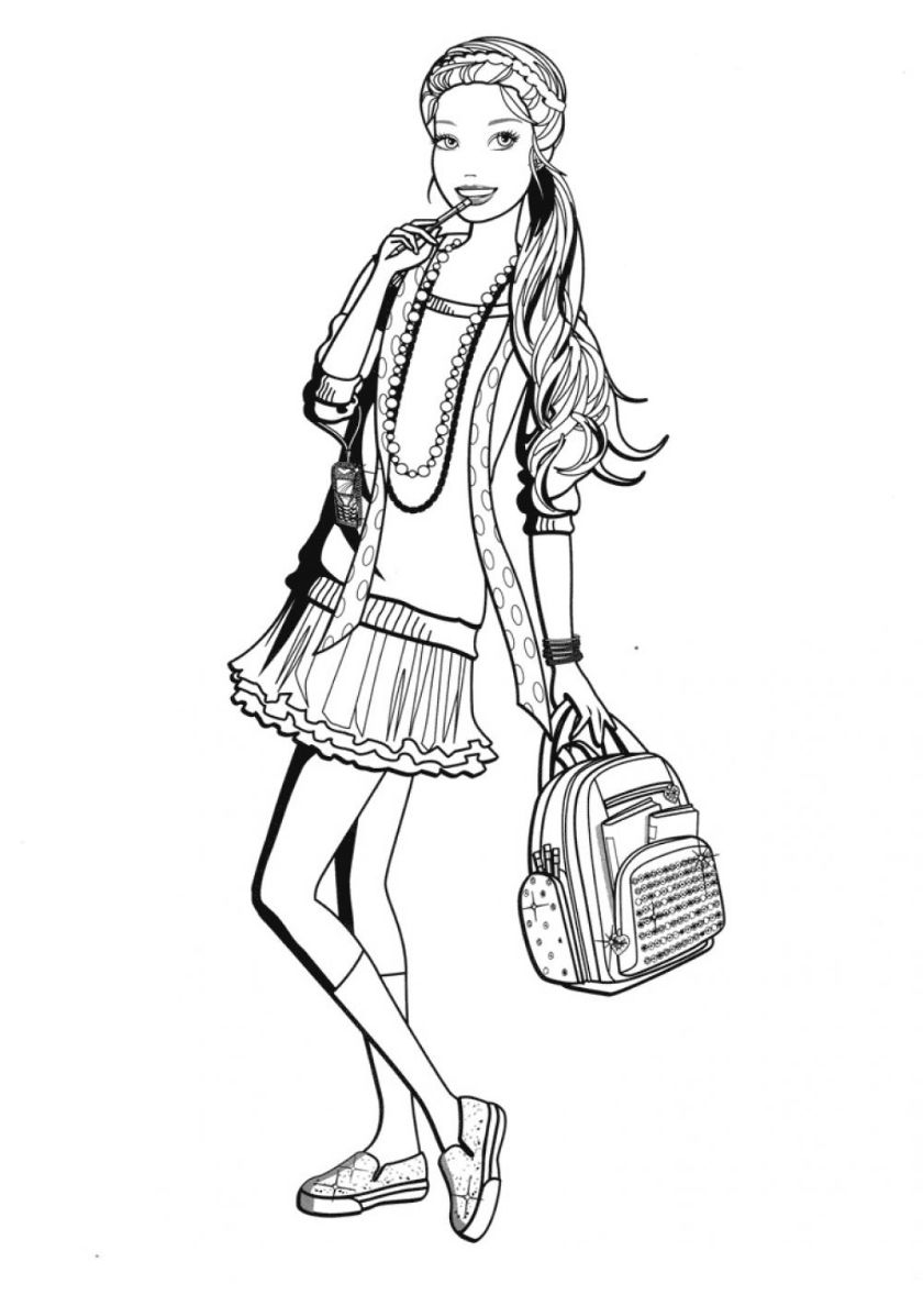 Barbie in the Change highquality free coloring from the