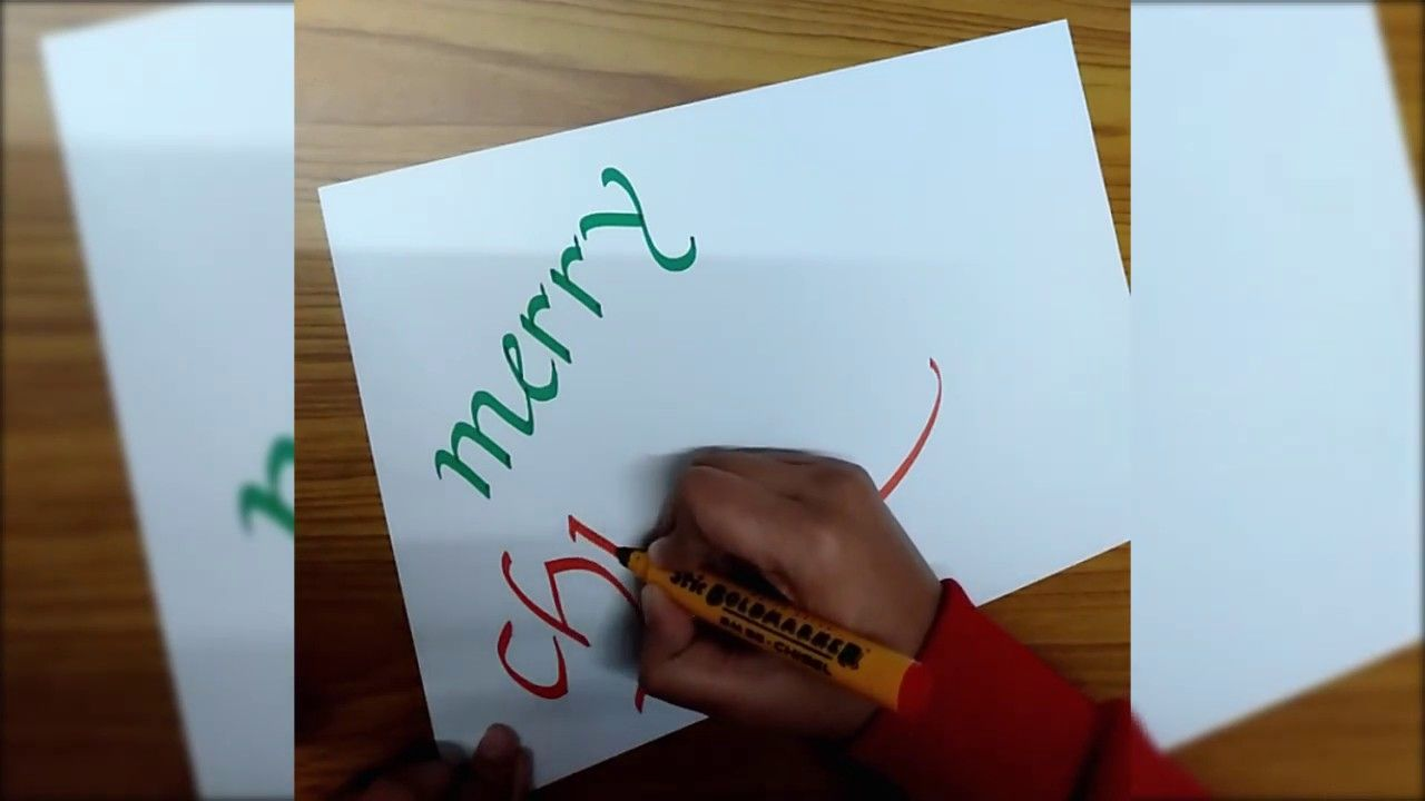 How to write in Calligraphy – Merry Christmas Word for Beginners