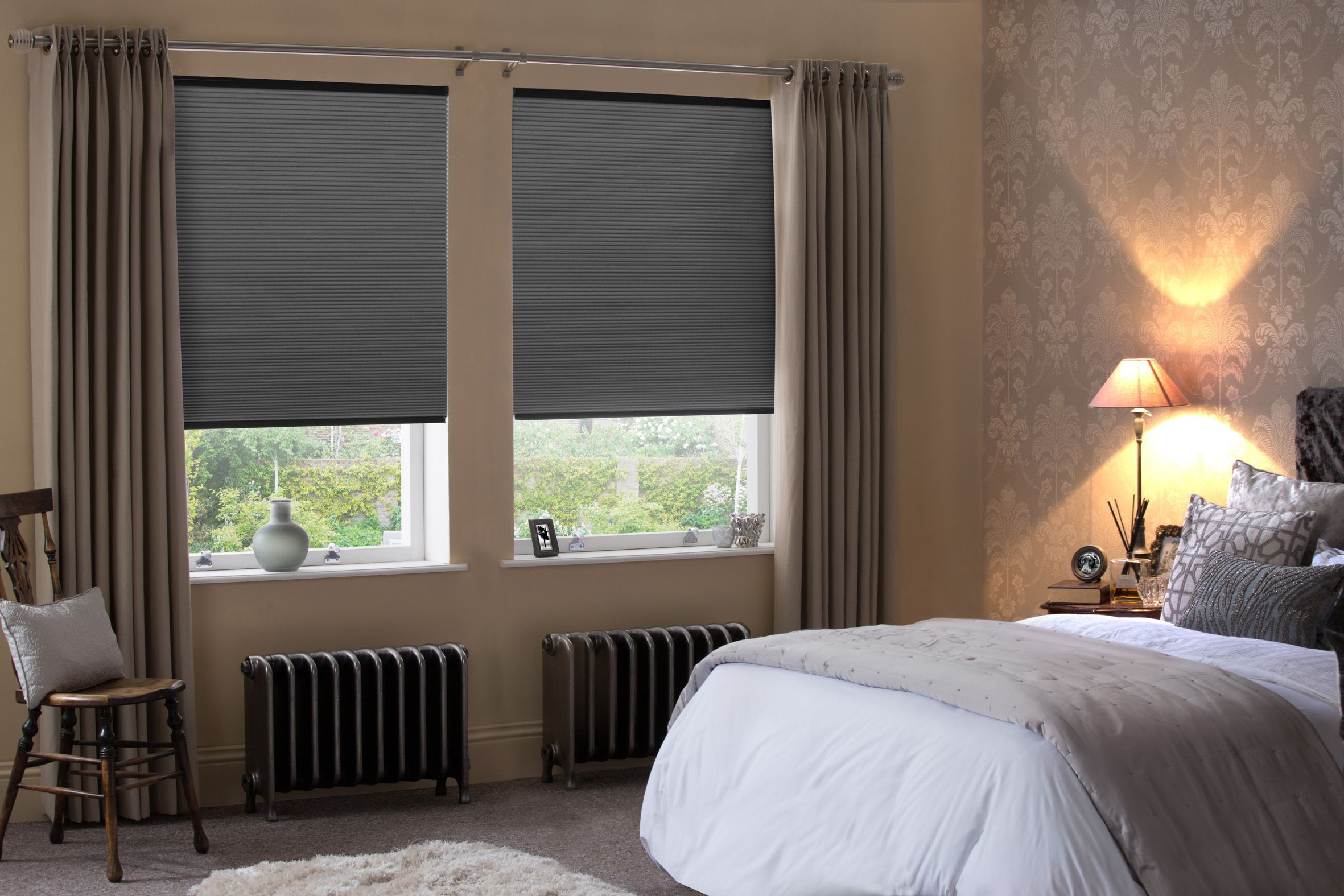 Bedroom window ideas  hive blinds from style studio silver grey bedroom blinds best