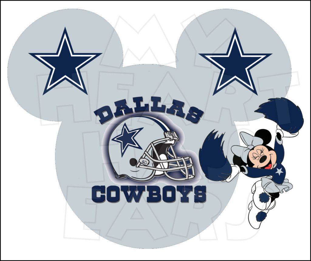 7518a287b Printable DIY Mickey Mouse Dallas Cowboys NFL by MyHeartHasEars ...
