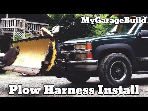 How to install a fisher plow wiring harness on a Chevy Truck plow