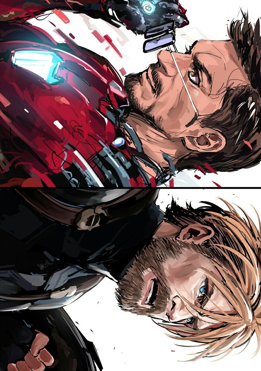 Avengers Infinity War Captain America Iron Man Steve Rogers