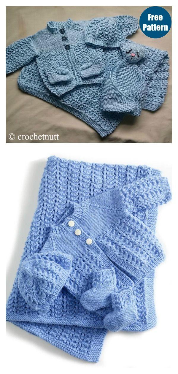 Baby Layette Set Free Knitting Pattern