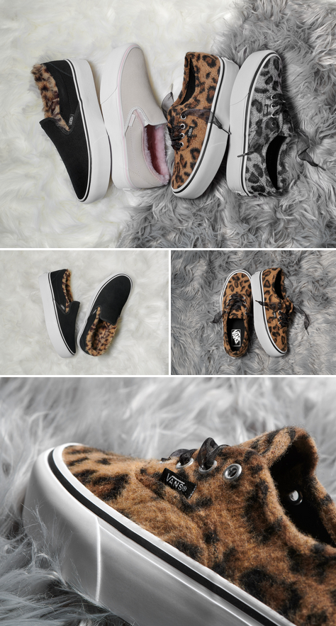bcad11f8fde0 Warm up this fall with the new Fuzzy Leopard Pack. Shop the range now on  vans.com classics.