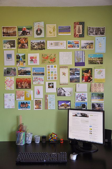 Postcard Wall In My Office Postcard Wall Photo Wall Stickers Postcard
