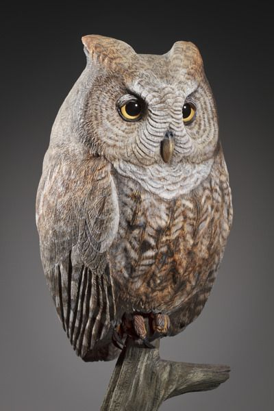 Joseph horn marie s owl art collection wood carving