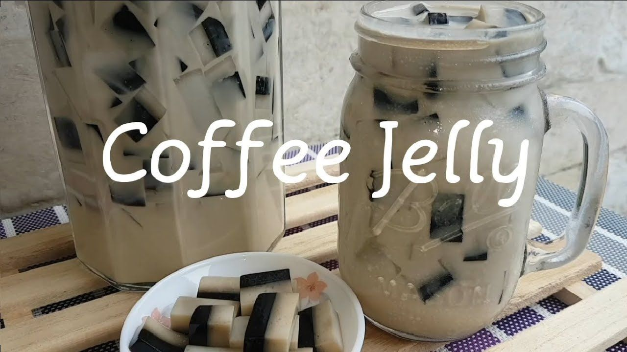 How to make Coffee Jelly Layered Jelly Coffee jelly