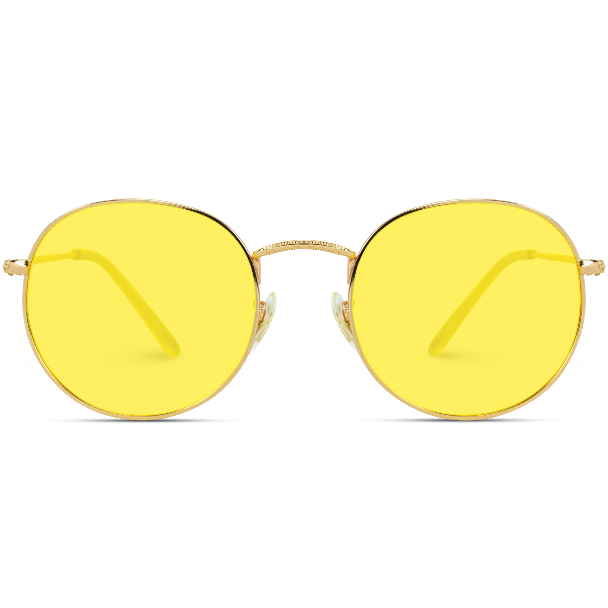 Ode Round Tinted Polarized Lens Metal Frame Retro Sunglasses Retro Sunglasses Tinted Sunglasses Yellow Tinted Sunglasses