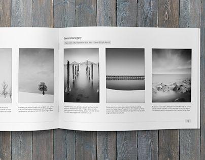 Minimalfolio is a horizontal photography portfolio A4 brochure.