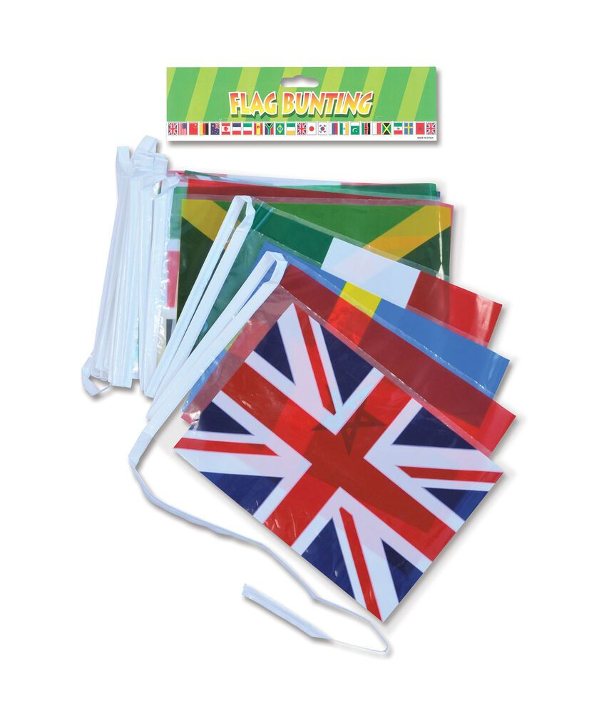Multi Nation Bunting Fete Eurovision World Cup Party Decoration Party Decoration