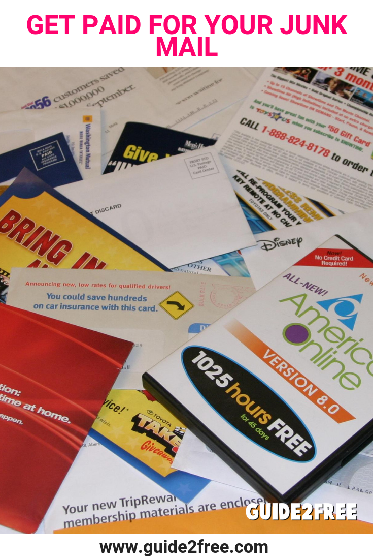 Get Paid For Your Junk Mail With Images Credit Card Deals Survey Sites That Pay Online Surveys