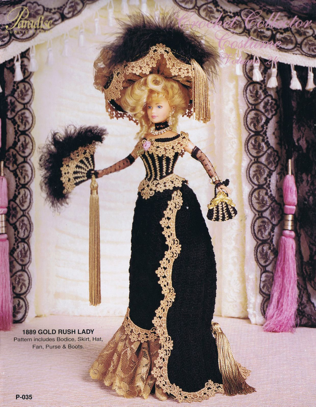 1907 Riverboat Belle Paradise 110 Barbie Doll Crochet PATTERN NEW NO DOLL