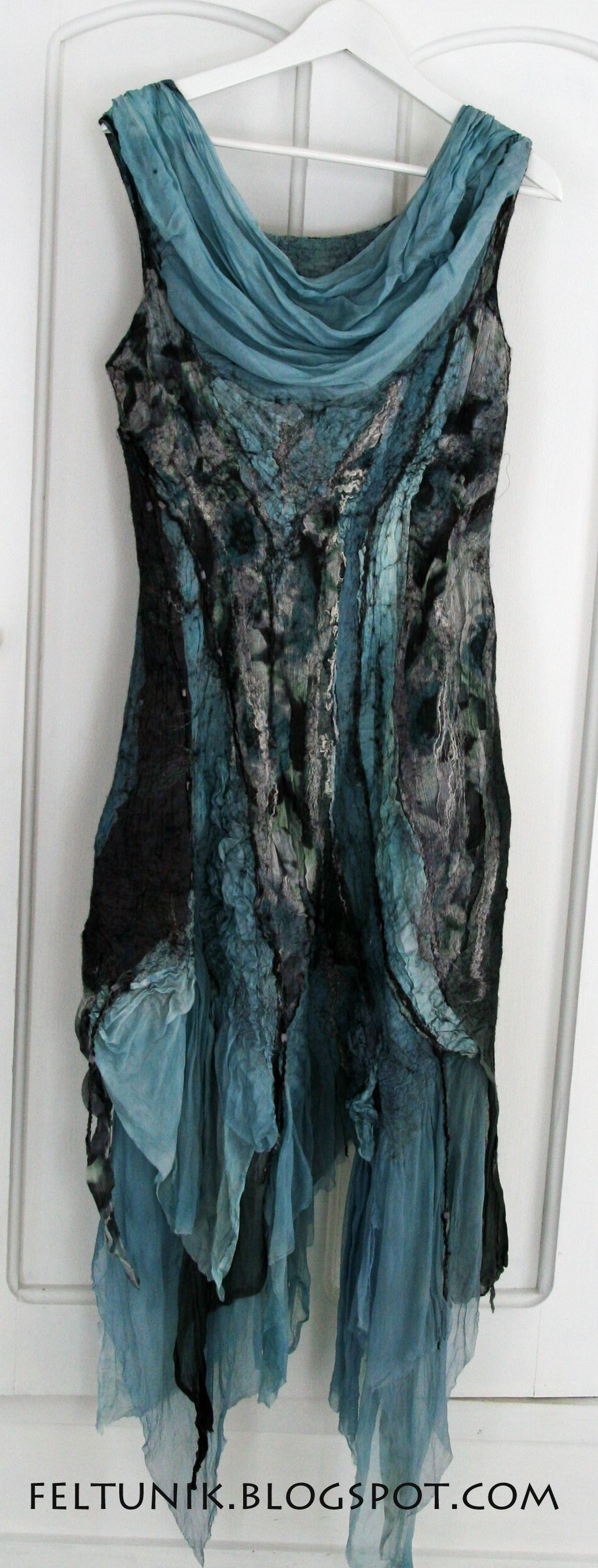 Black And Dusty Teal Tunic Ethereal Layers Of Lightweight