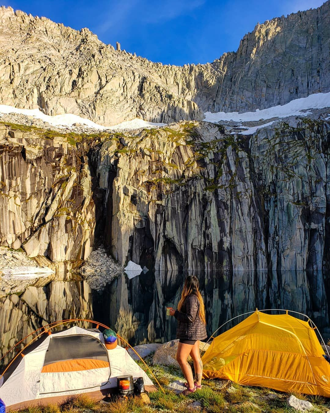 Tennyson Miki Edwards V Instagram Hst Campsite Day 3 Precipice Lake It Was Friday The 13th But We Felt P Places Around The World Around The Worlds Lake