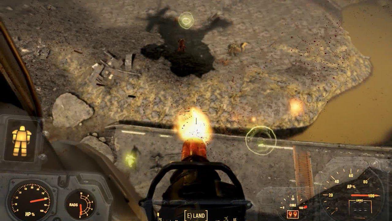 War of the Commonwealth explosive vertibird minigun = safari