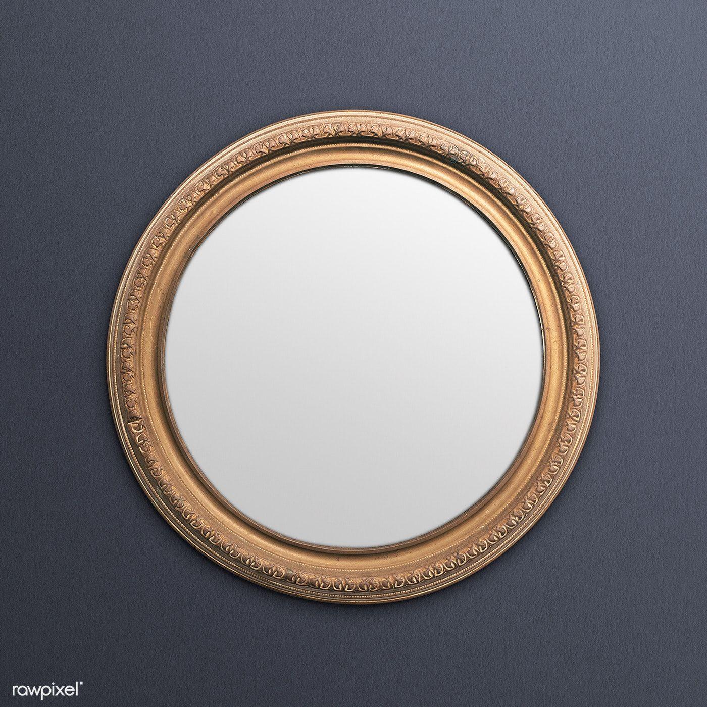 Download Premium Psd Of Vintage Round Gold Picture Frame Mockup In 2020 Gold Picture Frames Frame Mockups Vintage Picture Frames