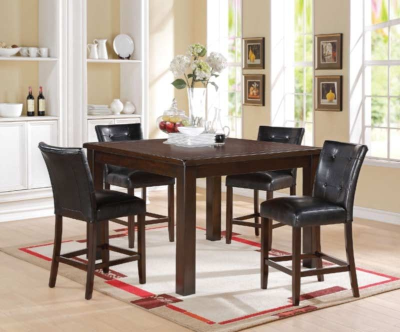 Acme Furniture  Easton 5 Piece Counter Height Dining Table Set In Entrancing Acme Dining Room Set Inspiration