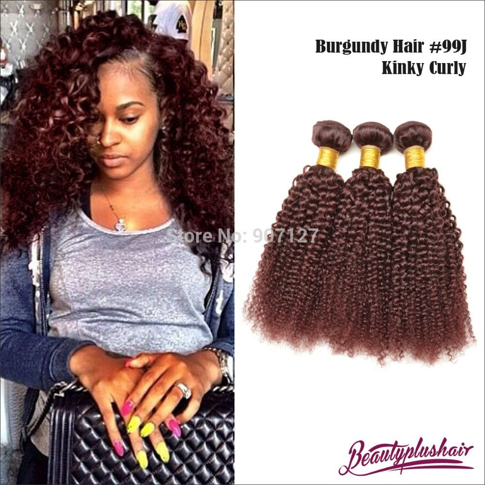 6a red brazilian remy hair 99j kinky curly hair extensions 3 pcs 6a red brazilian remy hair 99j kinky curly hair extensions 3 pcslot color human pmusecretfo Gallery