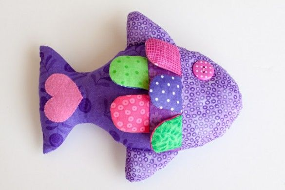 Fish soft toy. You could use ribbon for the fins