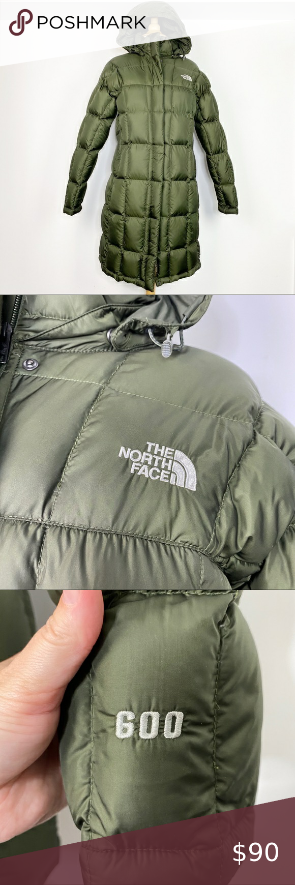 North Face Olive Green Long Down Puffer Jacket M The North Face Puffer Puffer Jackets [ 1740 x 580 Pixel ]