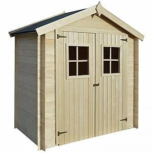 Garden House Shed Log Timber Cabin 2x1 m 19 mm Wood -