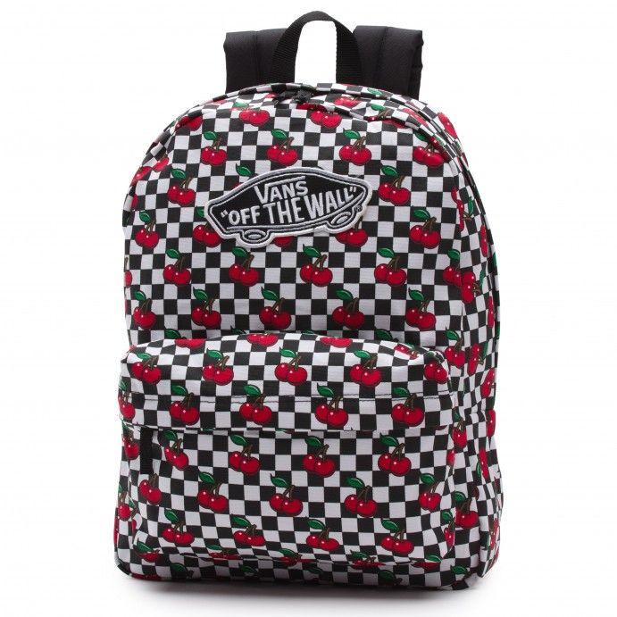77eccfa31d Vans Realm Backpack (Cherry Checkers) Black True White