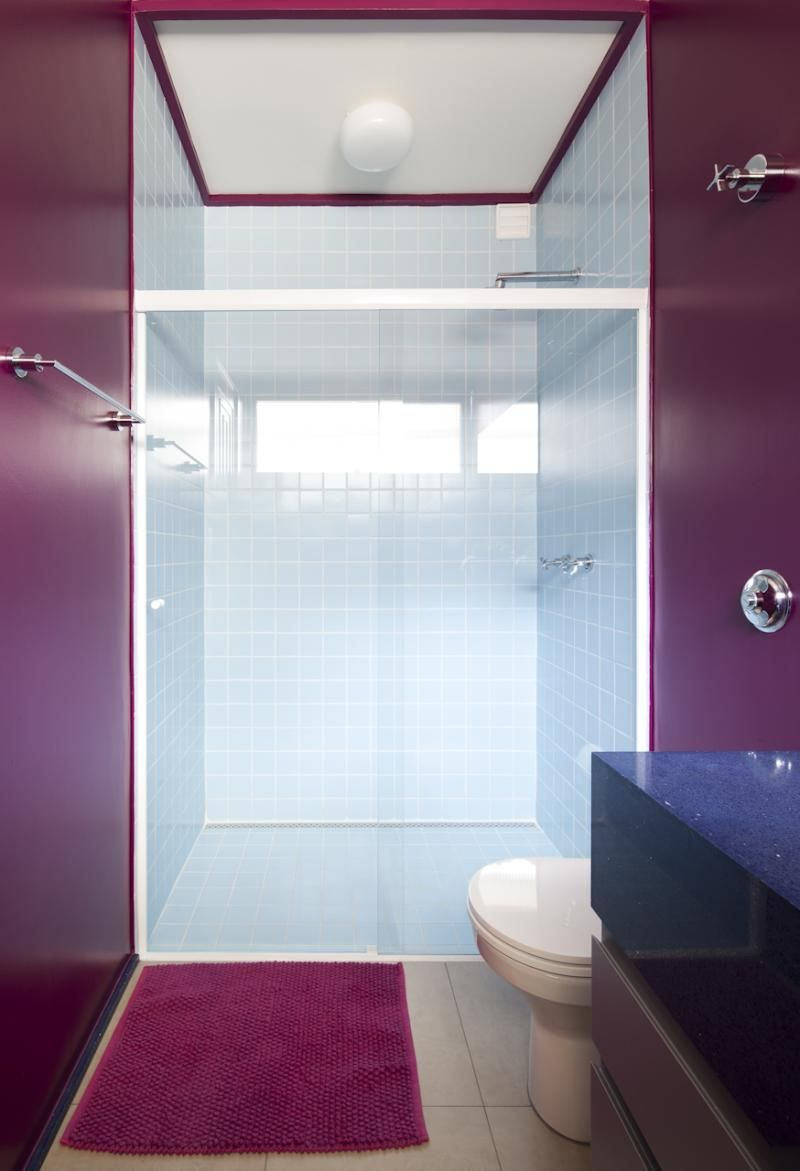 Purple bathroom decor banheiros bathrooms Decor Ideas