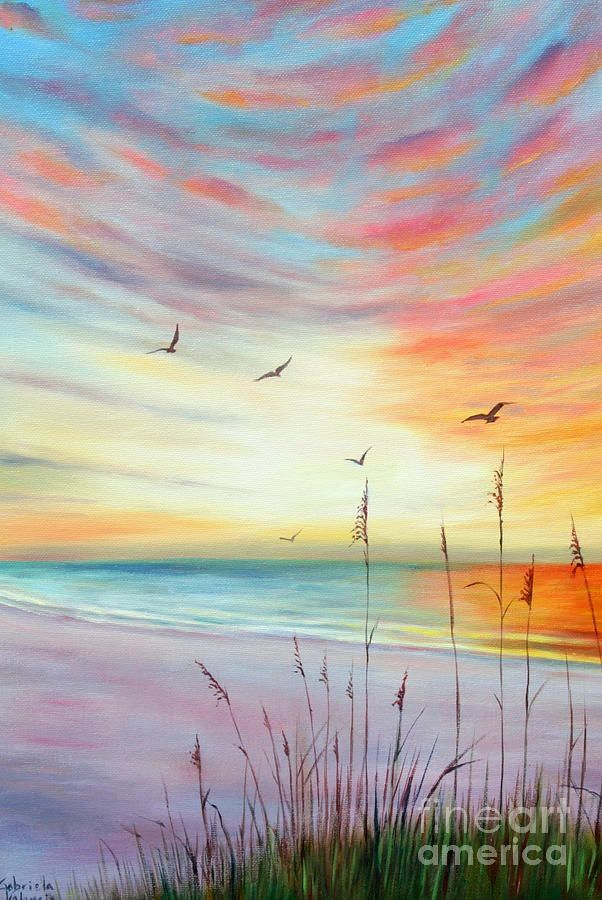 St Pete Beach Sunset Sunset Art Beach Sunset Painting
