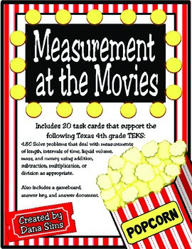 Measurement at the Movies (TEKS 4.8C) STAAR Practice ...