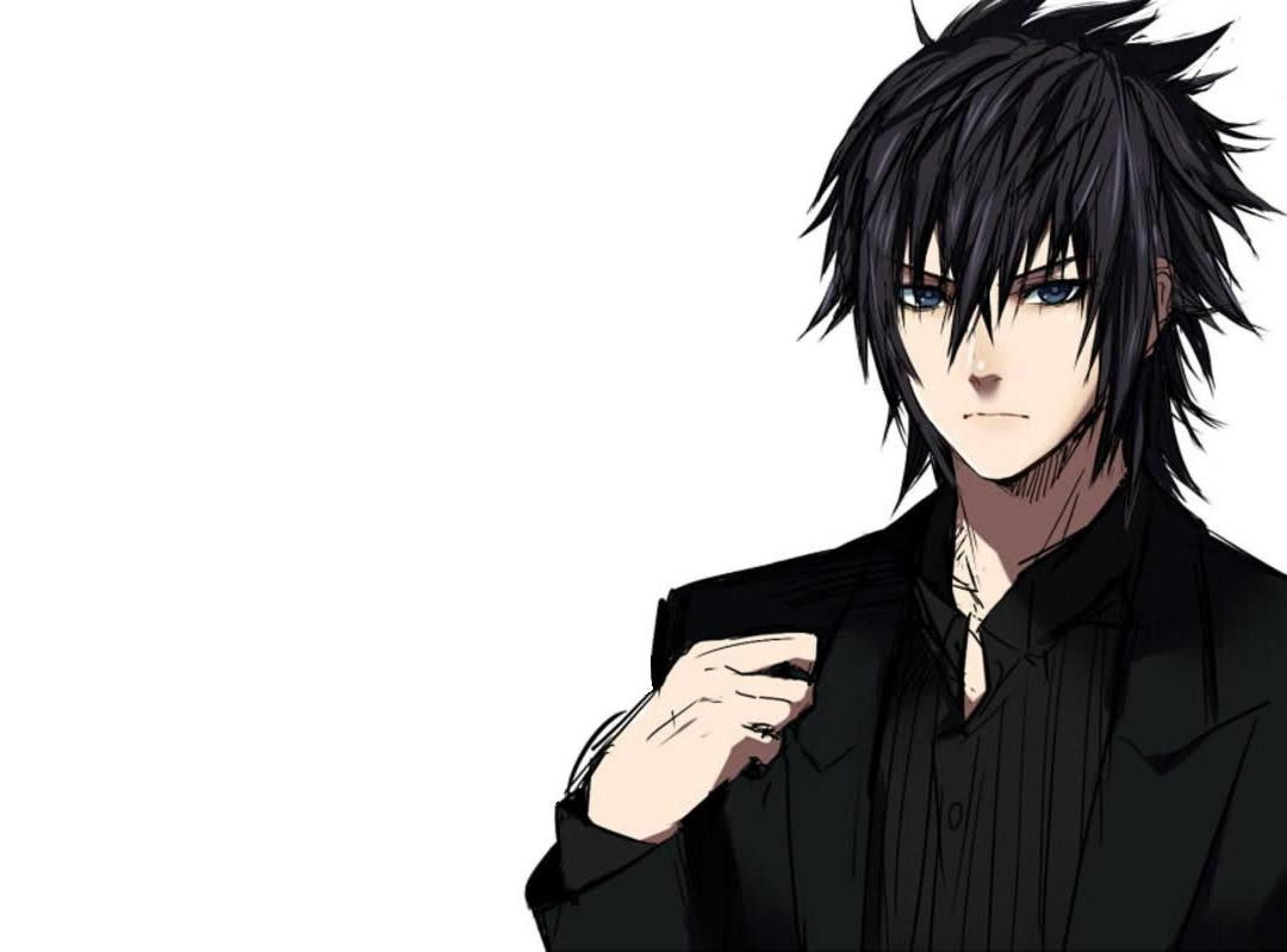 Pin By Onewayrick Orphanos On Anime Guys With Black Hair Black Hair Boy Anime Guy Blue Hair