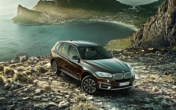 Download Wallpapers Bmw X5 2018 4k Luxury Suv Brown X5 German
