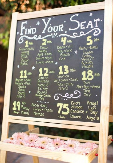Seating Chart Ideas Inspiration Fun Diffe Diy Wedding Ceremony Reception Neat Idea So That Everyone Will Know Where They Be Seated