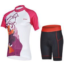 CHEJI Summer Cycling Clothes Outdoor Bicycle Ventilation Short Sleeve Set Jersey