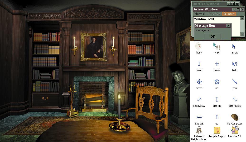 Desktop Wallpaper Bookshelf