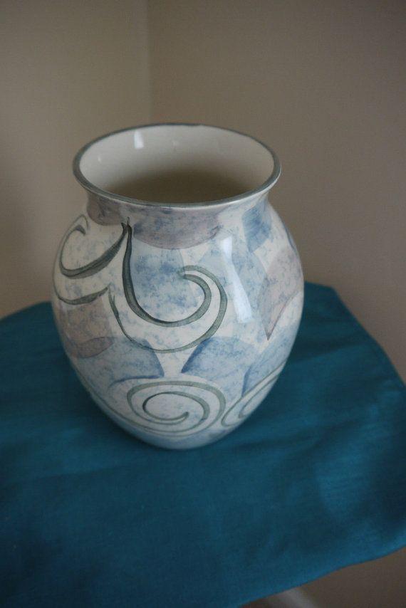 Poole Pottery Hand Painted Da Vinci Vase By Potterybazaar On Etsy