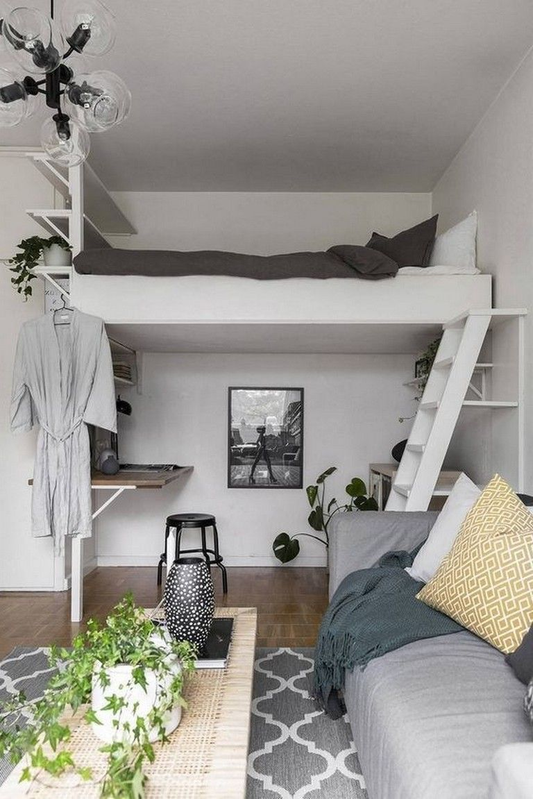 33 Awesome Magnificent Bedroom Ideas For Your Tiny Apartment Page 21 Of 35 Tiny Bedroom Creative Bedroom Small Master Bedroom