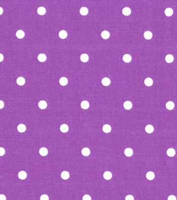 Quilter's Showcase Cotton Fabric-Dots Amethyst/White