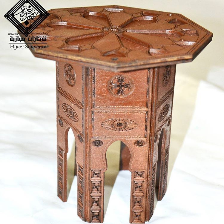 طاولة حجازية مصنوعة يدويا صناعة سعودية متوفر منها عدة الوان بني ازرق فاتح اخضر فاتح كحلي المقاس ١٥ ٣٠ ١٥ مصنوعة من الخشب م Side Table Decor Home Decor