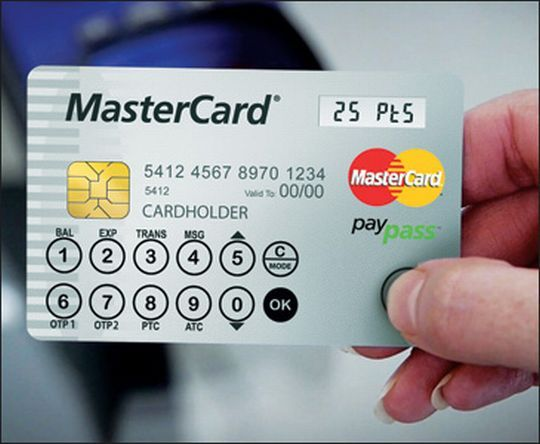 Next generation credit cards with LCD display and keypad BANK - credit card payment calculator