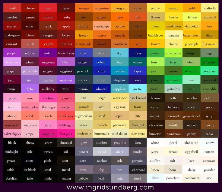 Lularoe Color Chart
