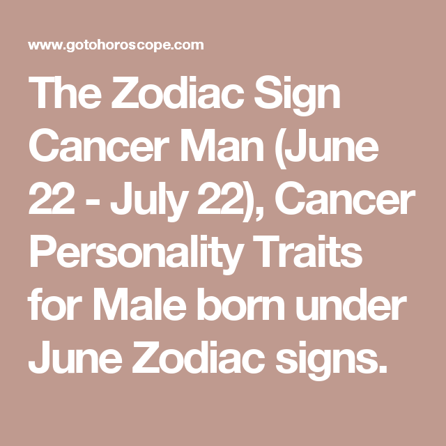 zodiac sign cancer man personality