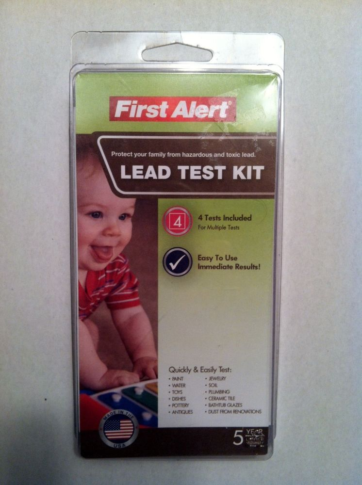 lead paint test kit by first alert 4 tests included immediate results. Black Bedroom Furniture Sets. Home Design Ideas