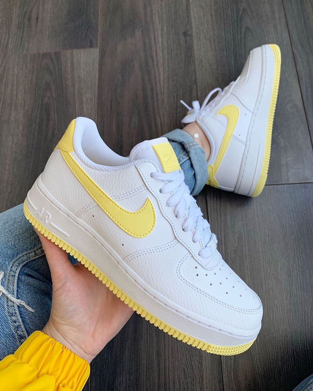 "Nike Air Force 1 ""Pastel Yellow"" organic link to shop"