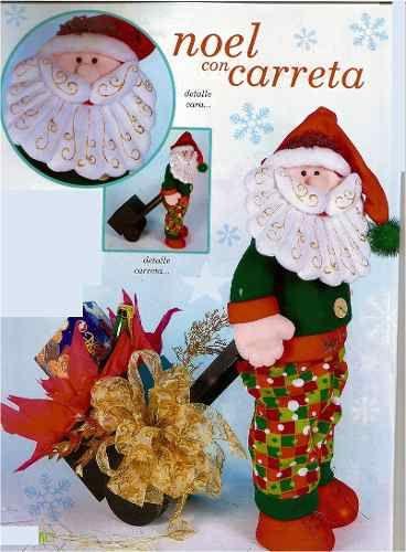 Patrón Noel con carreta Noel Pinterest Carretilla, Noel y Patrones