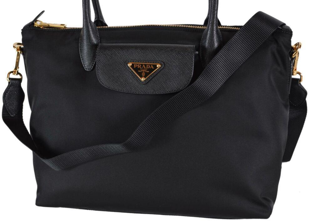 7dca9a1a5fe8 New Prada 1BA106 Tessuto Borsa A Mano Convertible Zip Top Handbag Purse   Prada  ShoulderBag