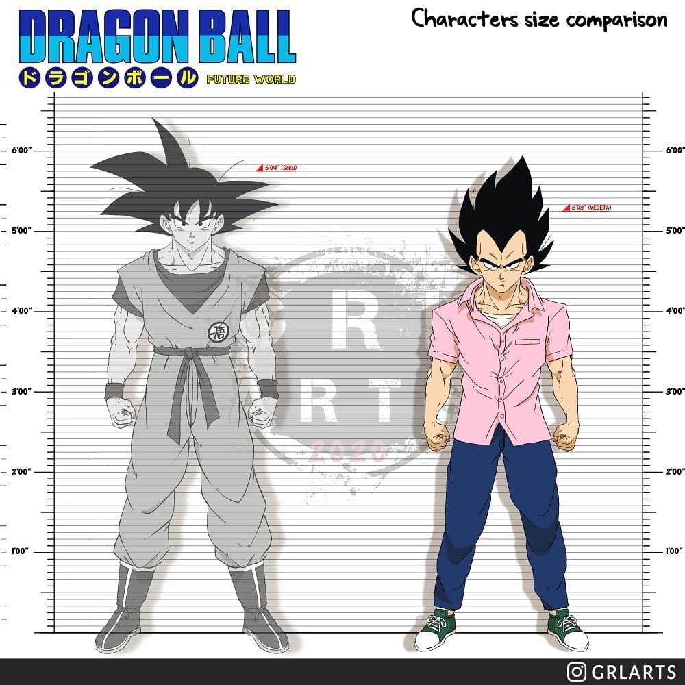 Vegeta Size Comparison Dragon Ball Dragon Anime