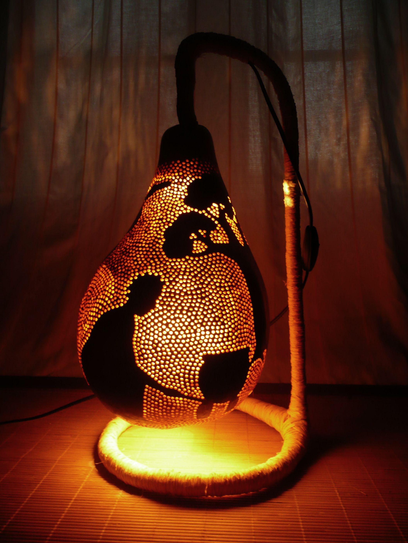 Prancing elephant gourd table lamp | GO GOURDS | Pinterest ... for Painted Light Bulb Art  45jwn
